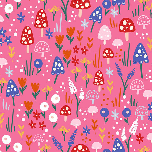 Mushrooms forest - pink