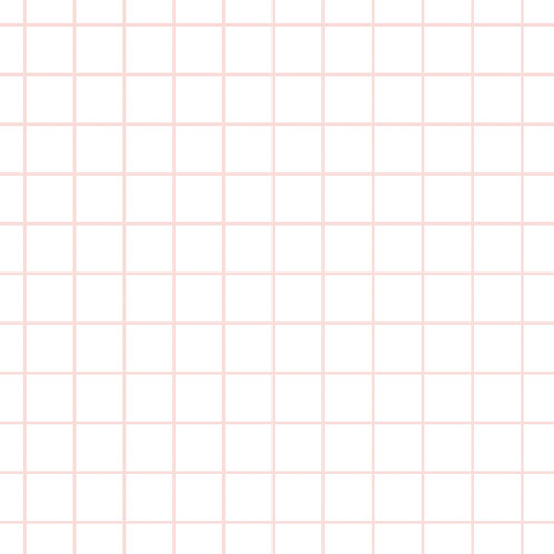 pink grid organic quilting cotton