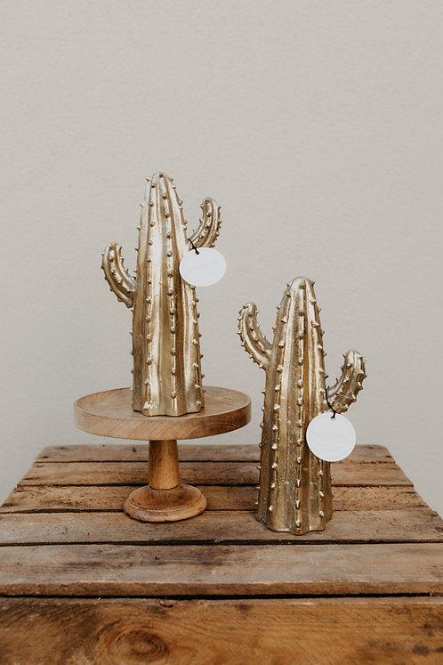 """Dekoobjekt """"Golden Cactus"""""""