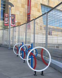 Target Field Station Bike Racks