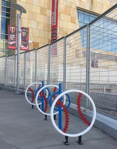 Target Field Station Bike Racks