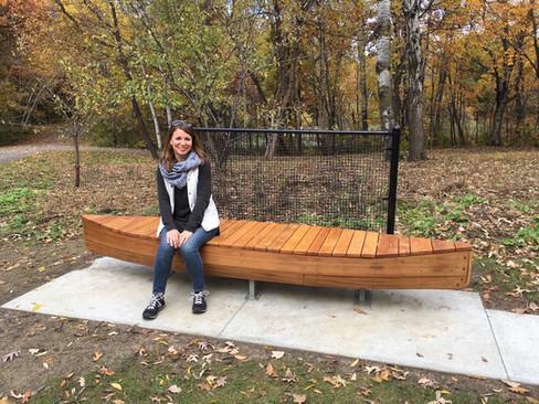 O'Leary Park Canoe Bench