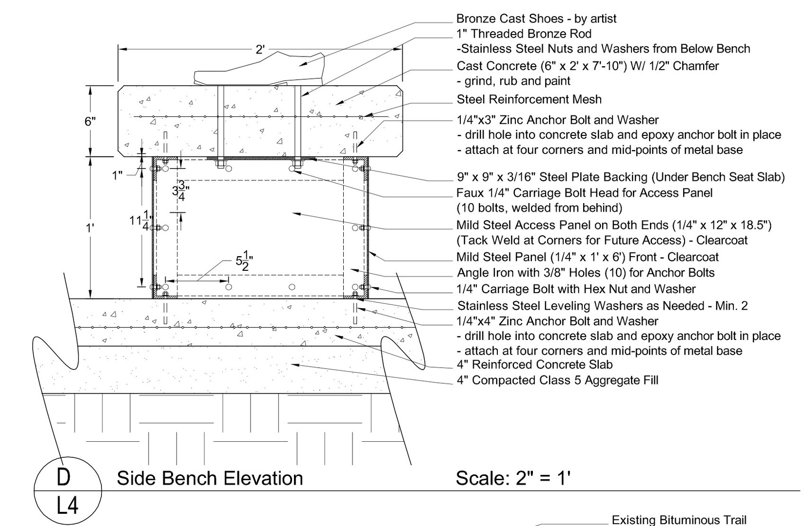 Midtown Greenway art const plan detail