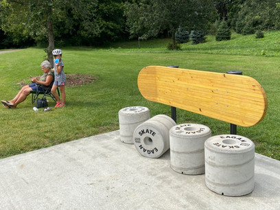 Eagan Skate Park Bench