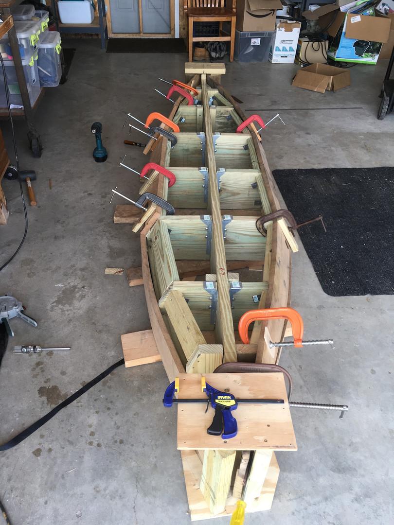 Canoe bench construction