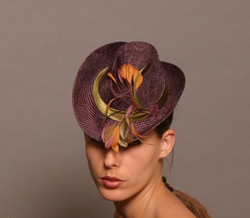 Mini Cowboy Hat with Feather Trim