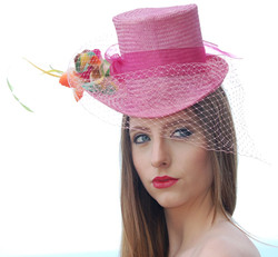 Mini Top Hat with Extended Brim