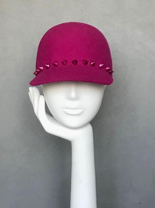 Pink Studded Felt Cap