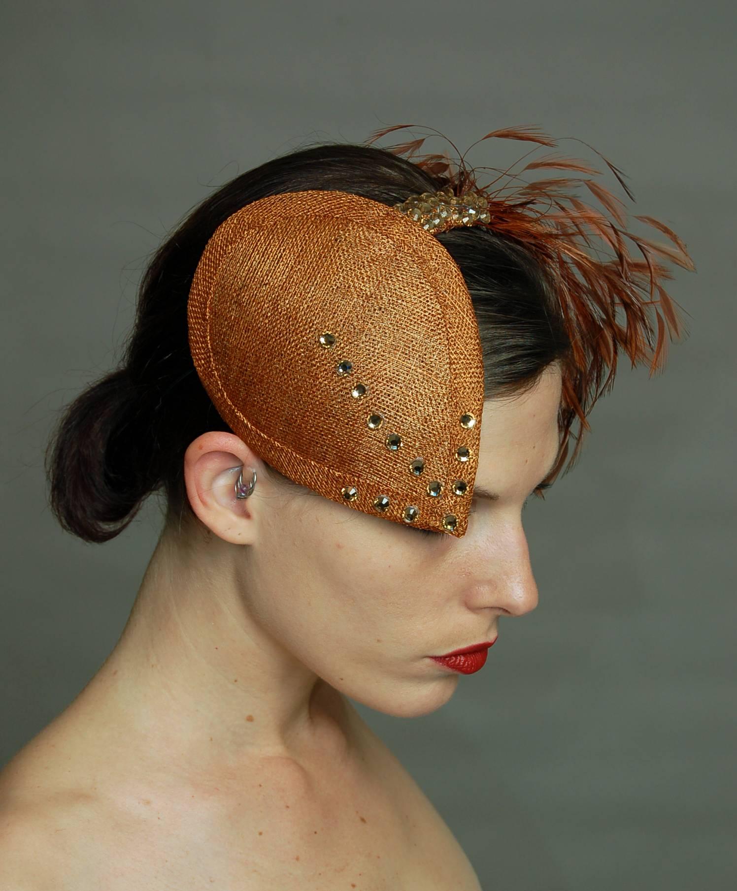 Teardrop Headpiece with Swarovski Diamanté