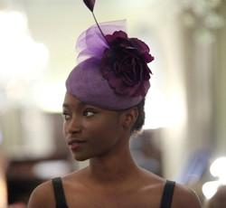 Purple Cocktail Hat