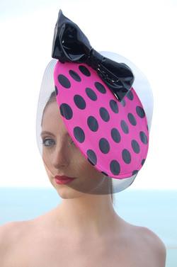 Polka Dot Disc Fascinator with crinoline