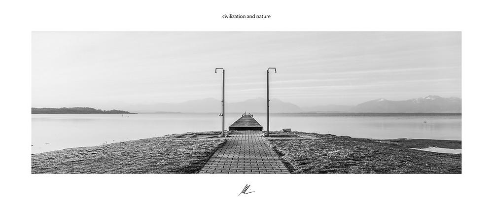 Strandbad Seebruck, Chiemsee, Fine Art Photography, analog Fotografie, Fuji G617