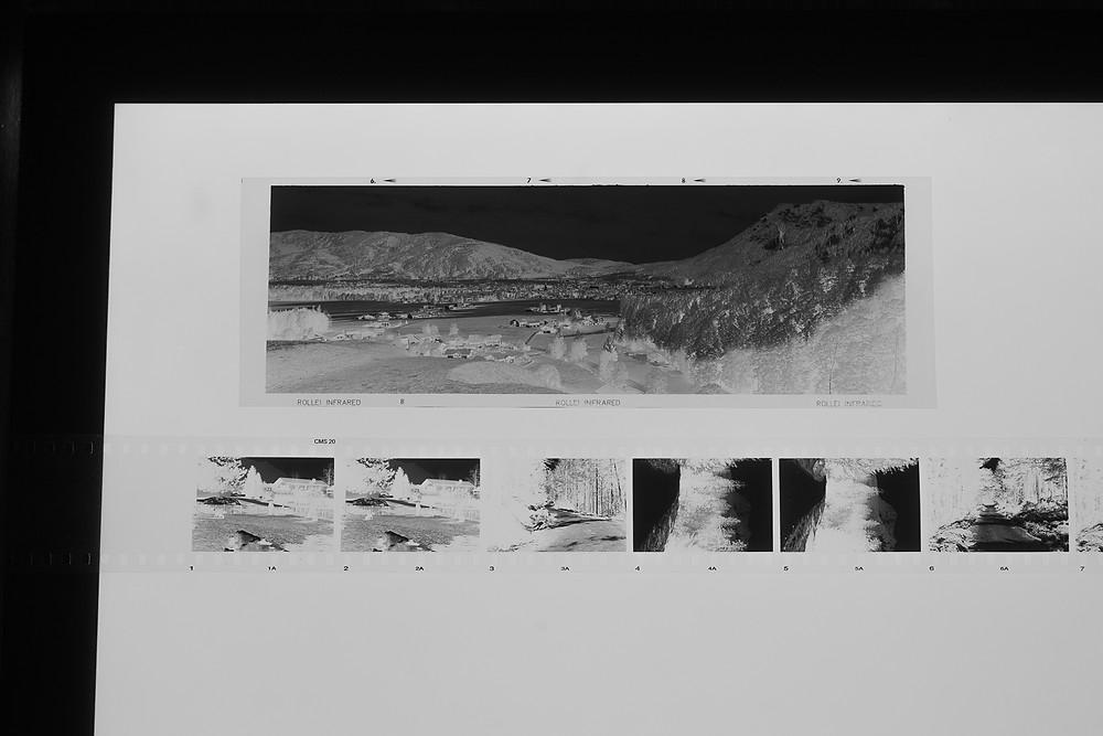 6x17 Negativ einer Fuji G617, Kleinbildnegativ, Merten Riesner, analoge Fotogarfie