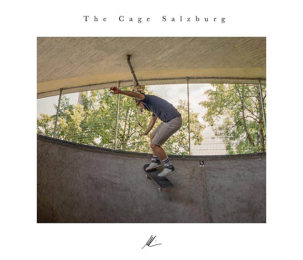 The Cage Salzburg, Skateboarder, Salzburg, Mamiya RB 67, Kodak Portra 400