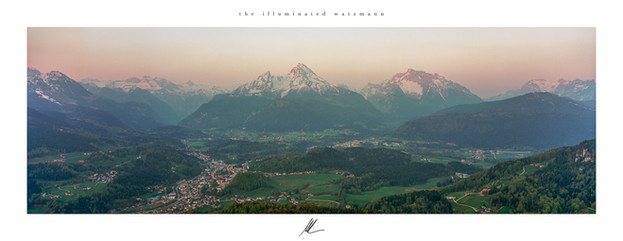 the illuminated watzmann