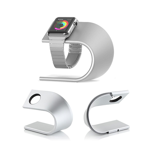 U-Shape Aluminium Desktop Stand Holder for Apple Watch/鋁合金U型充電支架/2色可選