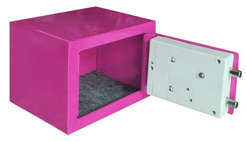 TG-280 夾萬/保險箱 粉紅色(內部)