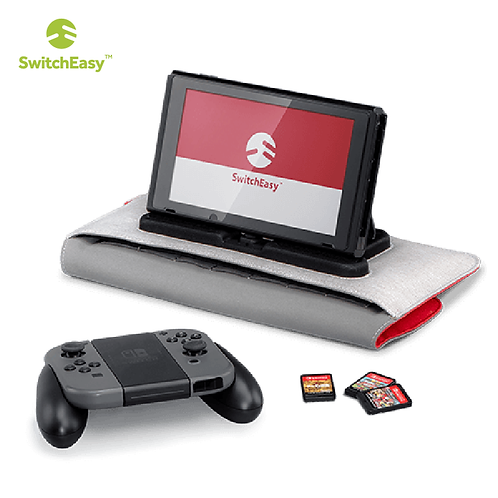【美國】SwitchEasy PowerPACK for Nintendo Switch 收納隨身包/紅灰色