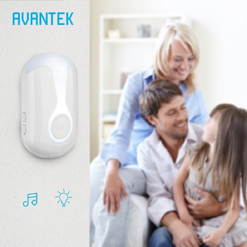 AVANTEK - 免電池無線門鐘套裝/2門鐘+1按鈕/小夜燈功能