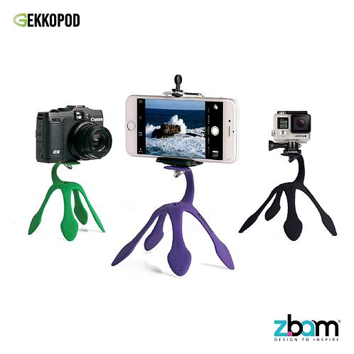 【以色列】GEKKOPOD二代多功能壁虎爬攝影支架/手機架/相機架/Gopro架/3色可選