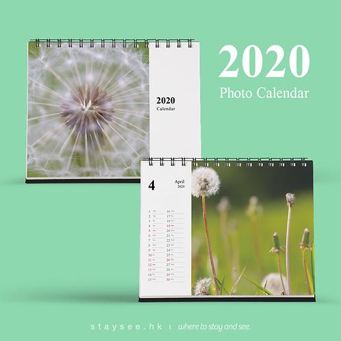 Photo Calendar 2020 - Times/182 x 140mm/免費排版