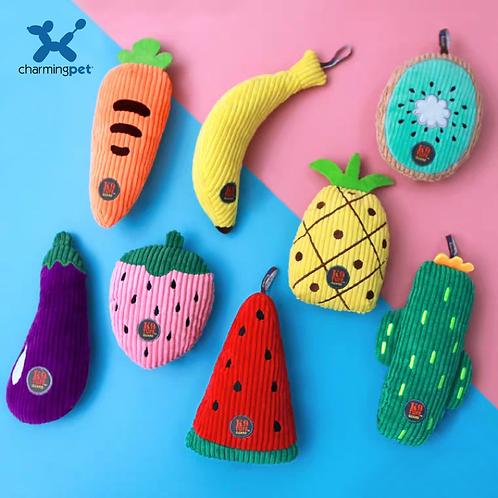 【美國】Charming Pets水果系列絨毛發聲寵物玩具/8款可選