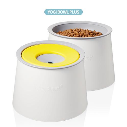 【韓國】 YOGI BOWL PLUS防灰塵抗菌防嘴濕毛孩兩用水碗飯碗/1L
