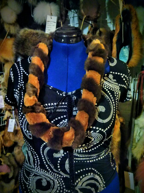 Sheared beaver infinity scarf