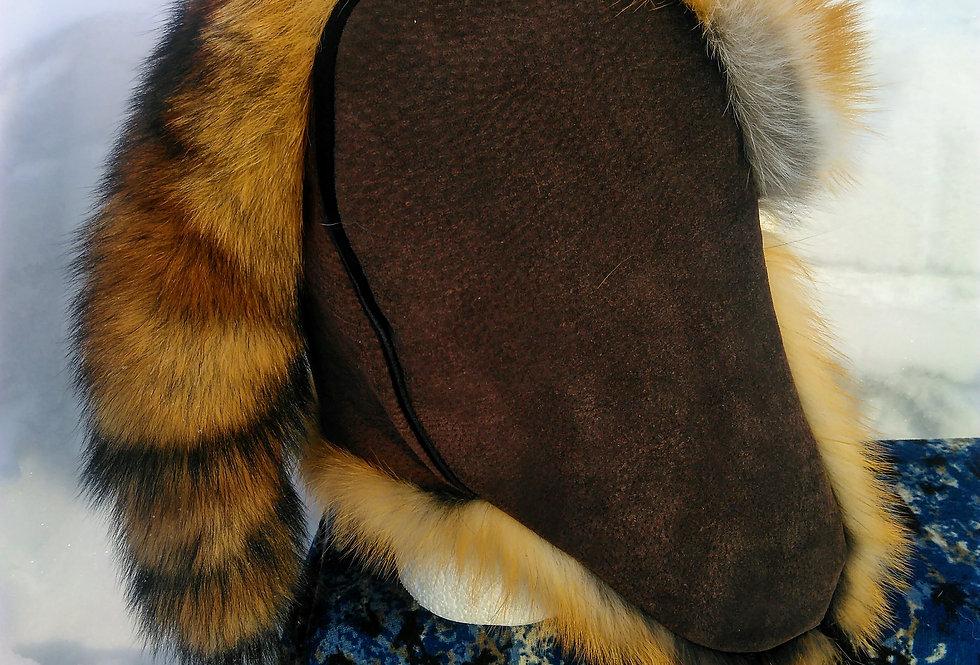 Red fox trapper hat
