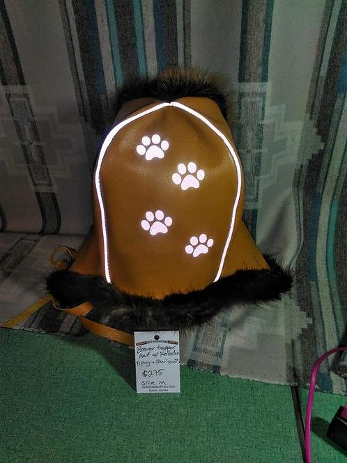 Beaver reflective trapper hat