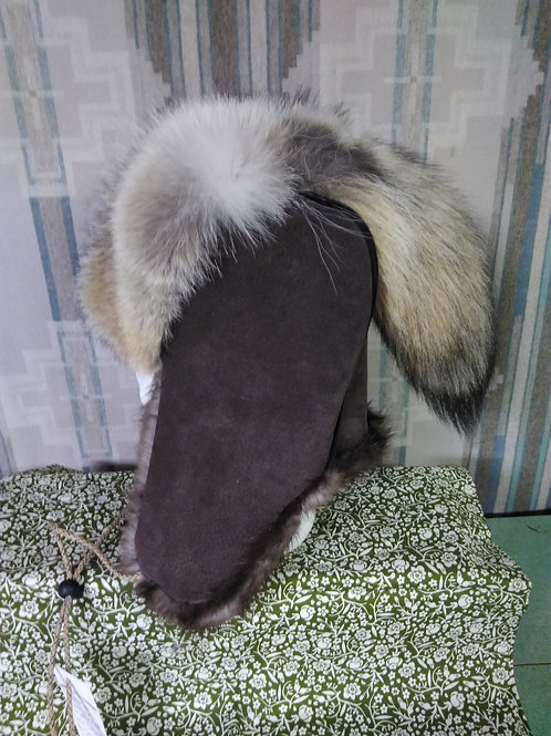 Coyote and beaver trapper hat