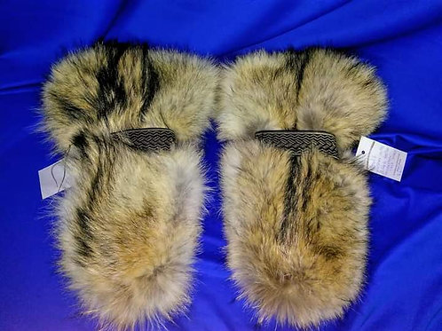 Wolf musher mitts L