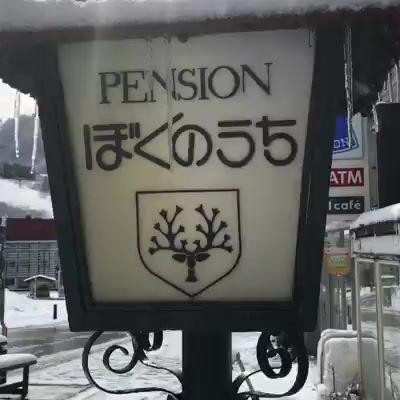 蔵王温泉に雪が降りました!