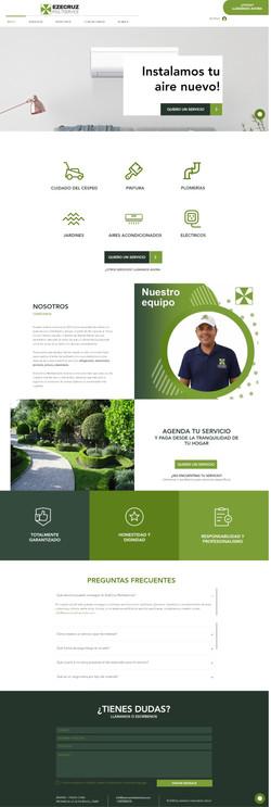 Página web ezecruz multiservicios