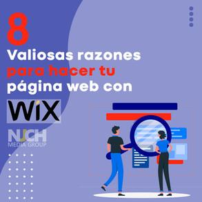 8 Valiosas razones para hacer tu página web con WIX