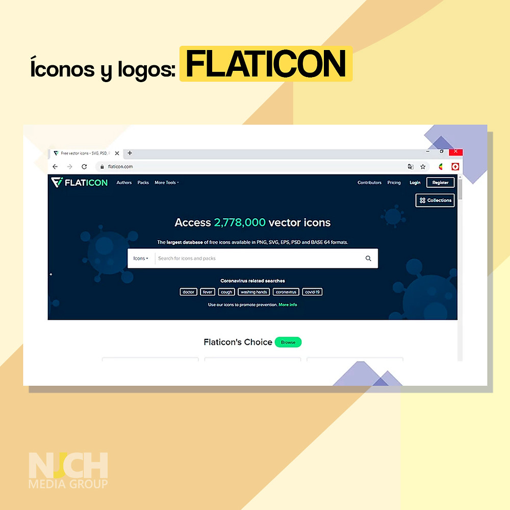 Flaticon landing page