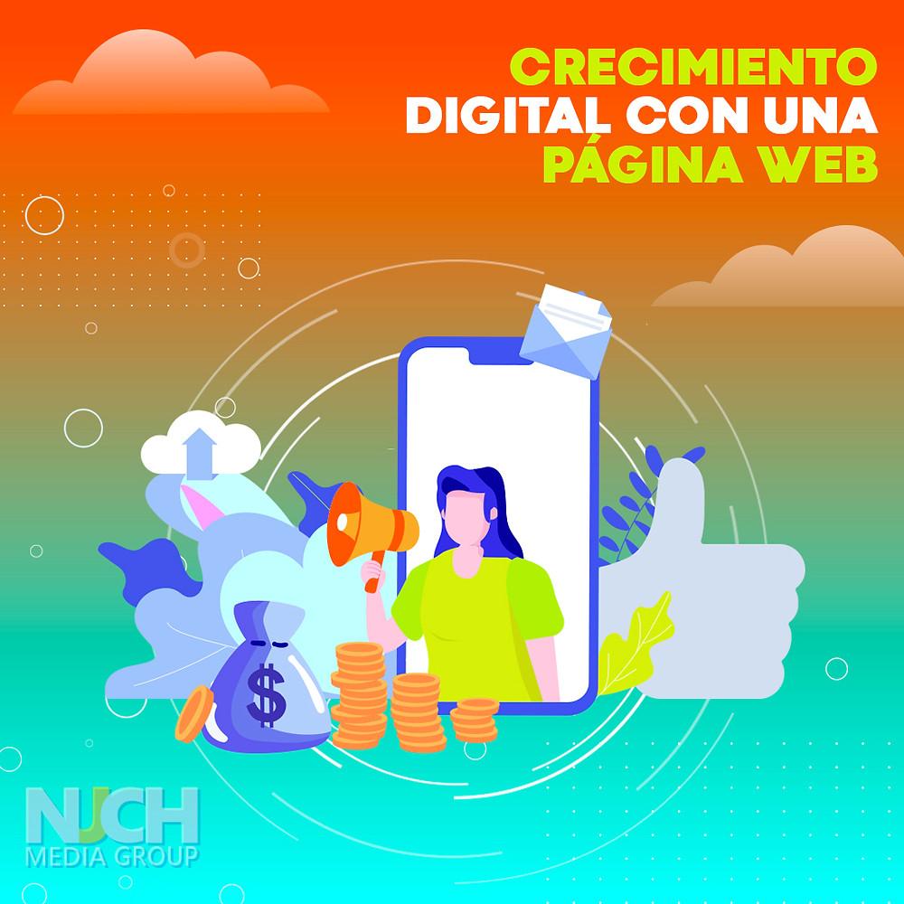 Crecimiento digital con una página web