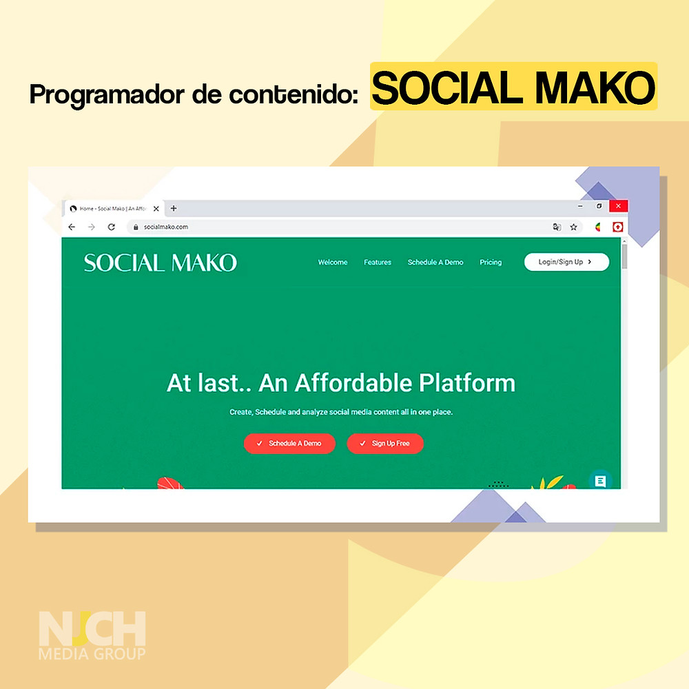Social Mako landing page