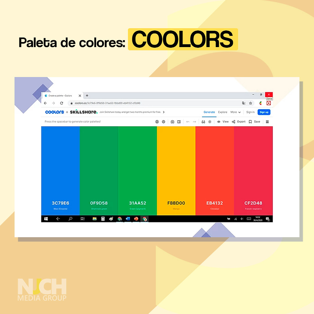 Coolors landing page