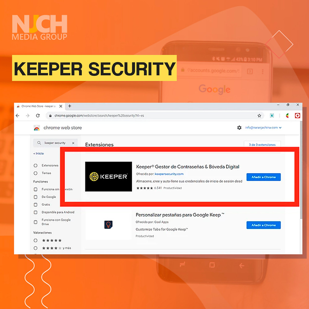 Keeper Security extension