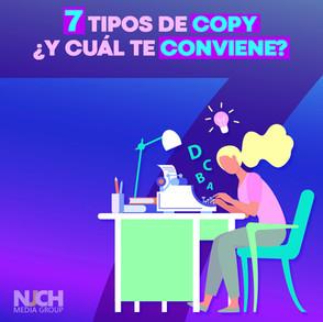 7 tipos de copywriting y ¿cuál te conviene?