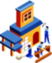 Isometric-Build-a-House-Vector-Illustrat