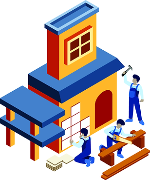 Isometric-Build-a-House-Vector-Illustrat