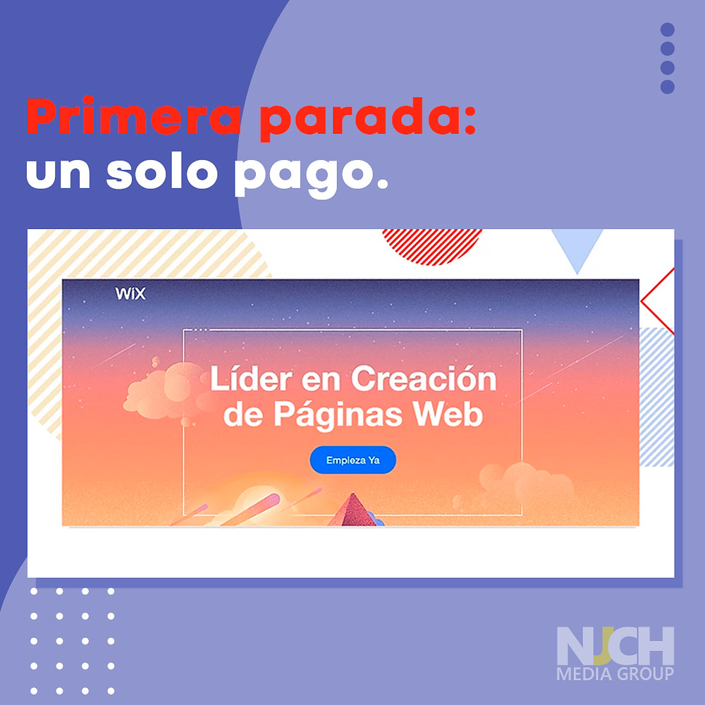 Landing page from WIX