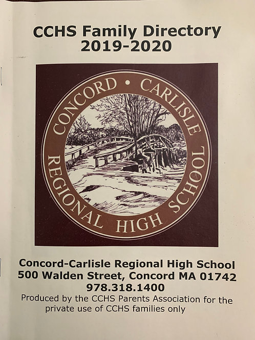 Additional Copy of CCHS Family Directory