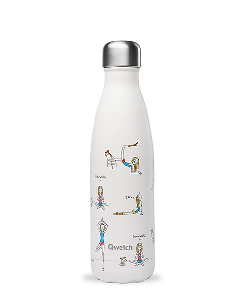 QWETCH - Bouteille isotherme - Yoga by Soledad - 500ml