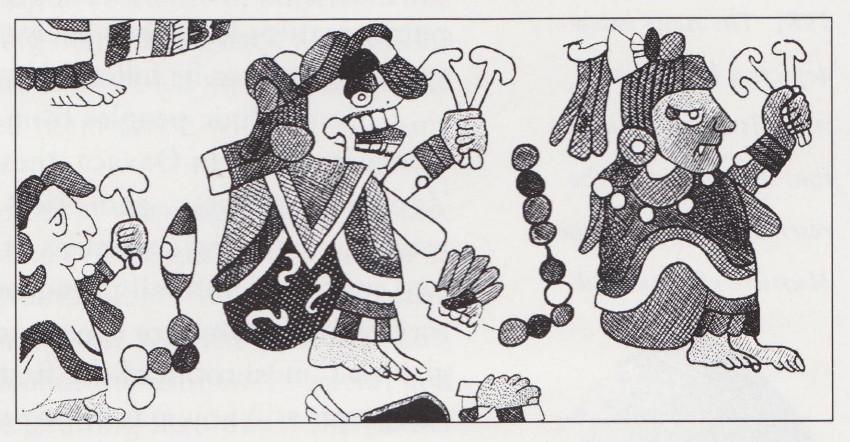 Dioses Mayas con hongos