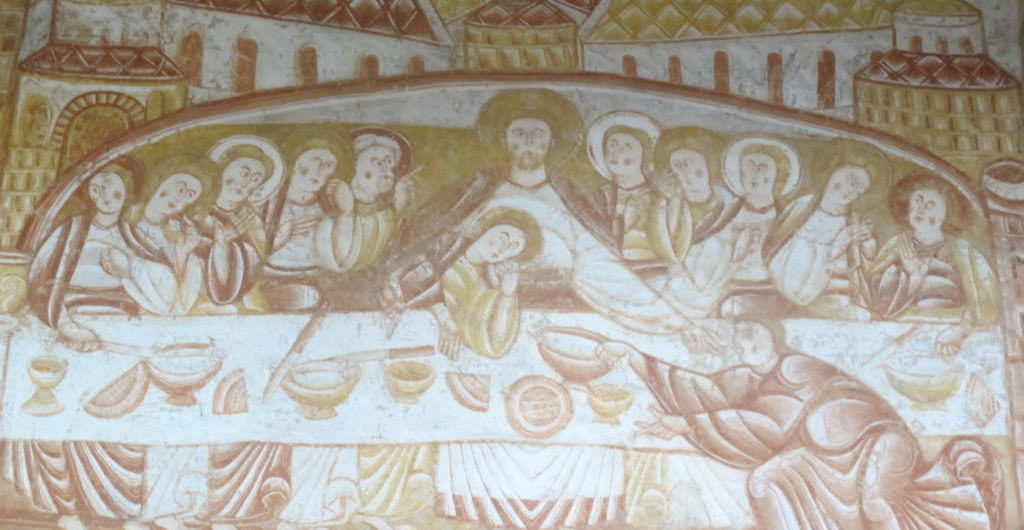 Fresco en St. Martin en Vicq, Francia.
