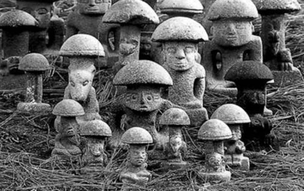 Piedras Hongos Mayas