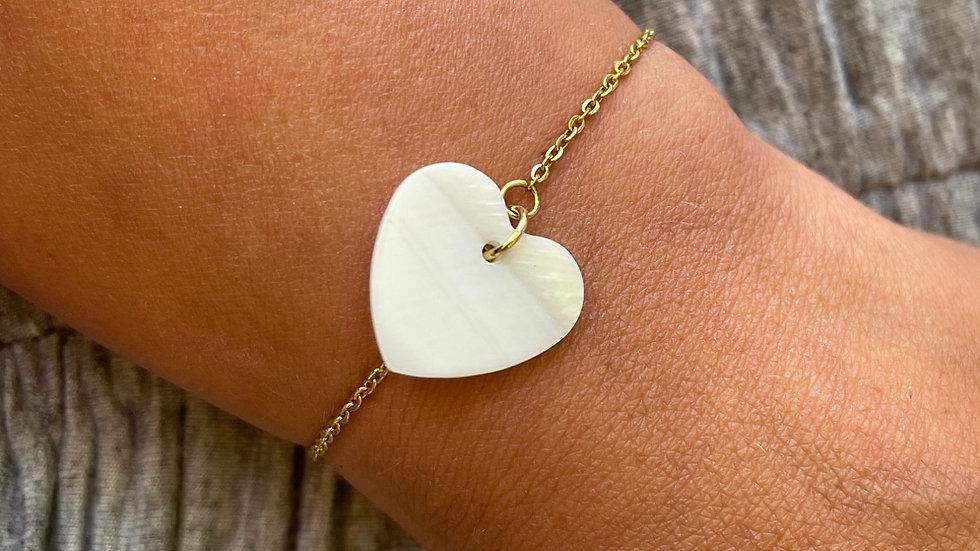 Bracelet Amour nacré